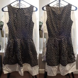Closet London black and white heart print dress
